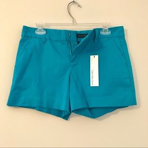CALVIN KLEIN• Size 4 NWT Teal Shorts
